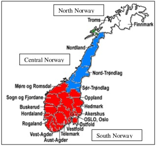 Cement Producer Norcem To Expand Coverage In Norway Management - Norway map population density